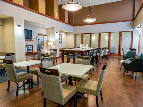 Hampton Inn & Suites common area